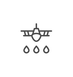 Crop duster line icon vector