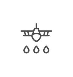 crop duster line icon vector image