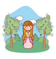 Cute magic cartoon vector
