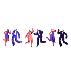 Dancing party celebration dressed-up adult people vector