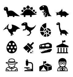 Dinosaur excavation icon vector