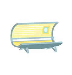 Empty solarium cartoon icon beauty salon equipment vector
