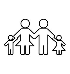 family figure icon vector image