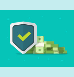 Financial insurance trust guarantees money vector
