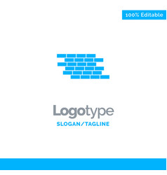 Firewall security wall brick bricks blue solid vector