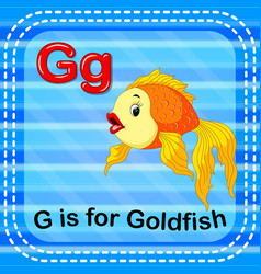 Flashcard letter g is for goldfish vector
