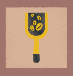 Flat shading style icon coffee scoop vector