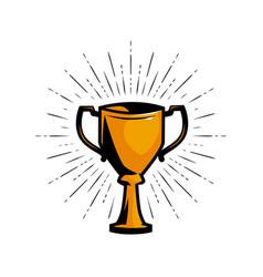Gold cup winner achievement award vector