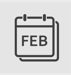 icon day calendar winter month february vector image