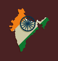 India map icon vector