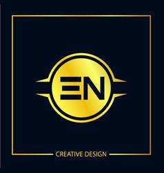 initial en letter logo template design vector image