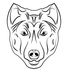 Ink sketch dog vector