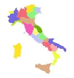 Italy map vector