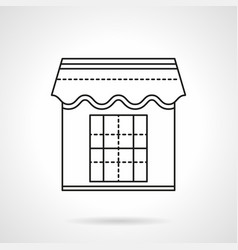 Kiosk flat line icon vector