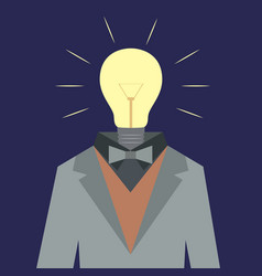 lamp suit man vector image