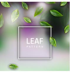 leaf realistic background vector image
