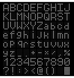LED light Alphabet vector