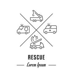 Line banner rescue vector