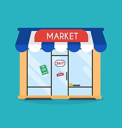market shop facade market building idea vector image