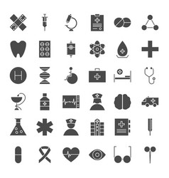 Medicine solid web icons vector