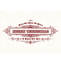 Merry Christmas vintage header vector