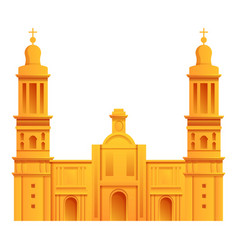 Mexican cathedral icon cartoon style vector