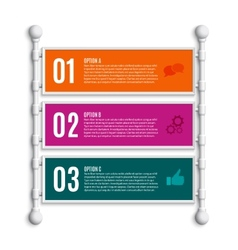 Options banners steps vector image
