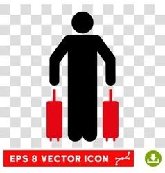 Passenger Luggage Eps Icon vector image