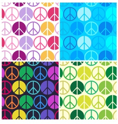 Peace seamless pattern vector