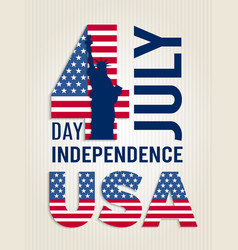 Poster for usa independence day design vector