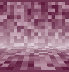purple random square mosaic or tiles background vector image