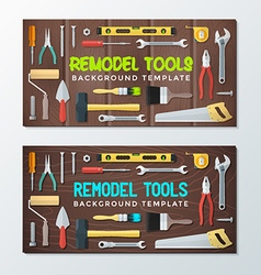 Remodel tools backdrops banner templates vector