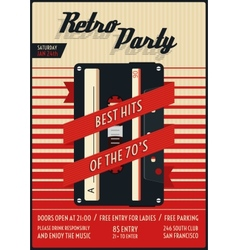 retro party poster vector image vector image