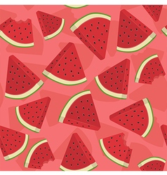 Seamless Pattern Watermelon Triangle Slice vector image