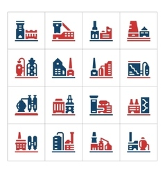 Set color icons of factory vector image vector image