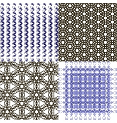 Set of abstract vintage geometric wallpaper vector image