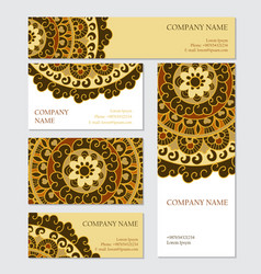 Set of business or invitation cards templates vector