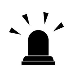 siren emergency light lamp vector image