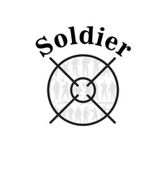 Soldier text shooting target background ima vector