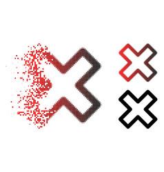 sparkle dotted halftone delete x-cross icon vector image