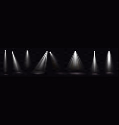 stage lights white spotlight beams glow elements vector image