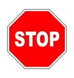 Stop icon Do not enter sign with text vector