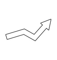 success arrow cartoon vector image
