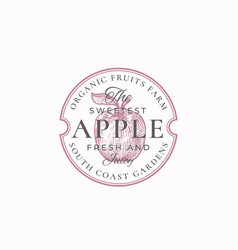 sweetest apple farm badge or logo template hand vector image