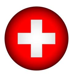 Swiss flag button vector