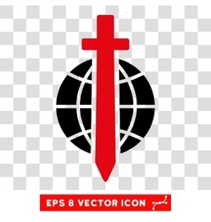 Sword Globe Eps Icon vector image
