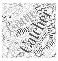 Techniques for the Catcher Word Cloud Concept vector