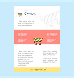 template layout for cart comany profile annual vector image