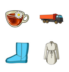 Transport shoes and other web icon in cartoon vector