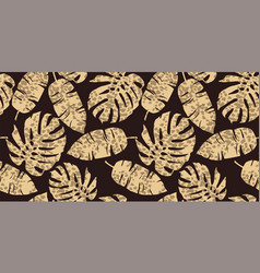 Trendy seamless exotic pattern with tropical vector